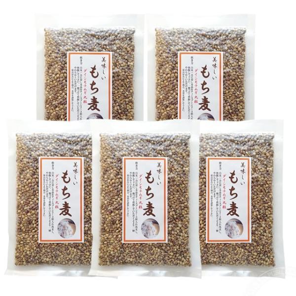 国産 もち麦 (ダイシモチムギ 丸粒) 200g ×5袋セット [オノシン]