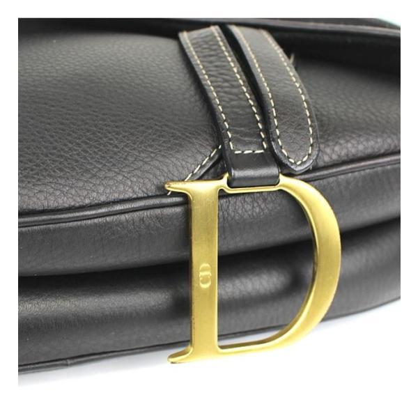 激レア 美品 ディオール Dior サドルバッグ レザー ダークブラウン