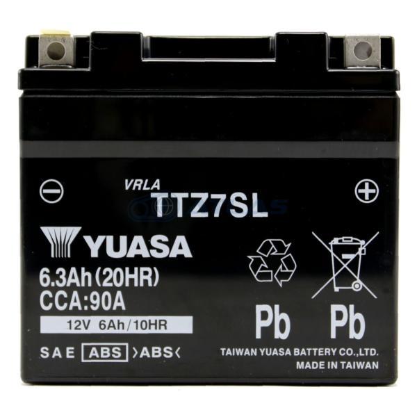 バイクバッテリー台湾ユアサTAIWANYUASATTZ7SL初期充電済み1年保証互換YTZ7SFTZ7S