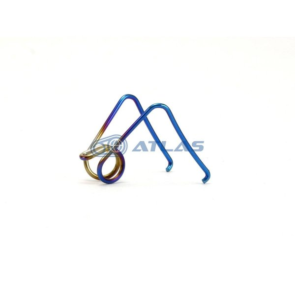 ☆JSM Brembo 2POT 84mmピッチキャリパー用 ステンレスパッドスプリング 焼色ブルー仕上げ ブレンボ新、旧カニキャリパー適合