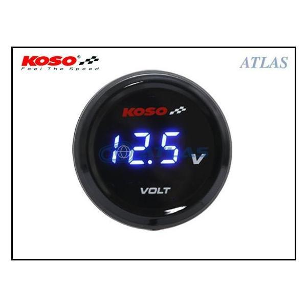 【LINE友だちクーポン発行中】KOSO i-GEAR 汎用電圧計(ボルトメーター)ブルー 12V車全般用