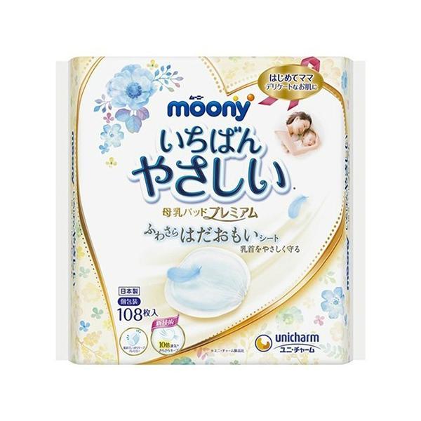ユニ・チャーム ムーニー 母乳パッド プレミアム 108枚入 1個