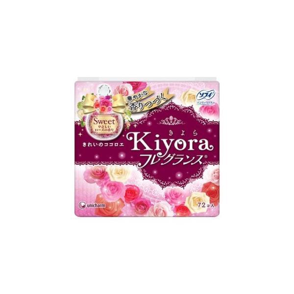 ユニ・チャーム ソフィ きよら KIYORA フレグランススイートやさしいローズの香り 72枚入(4903111375677)