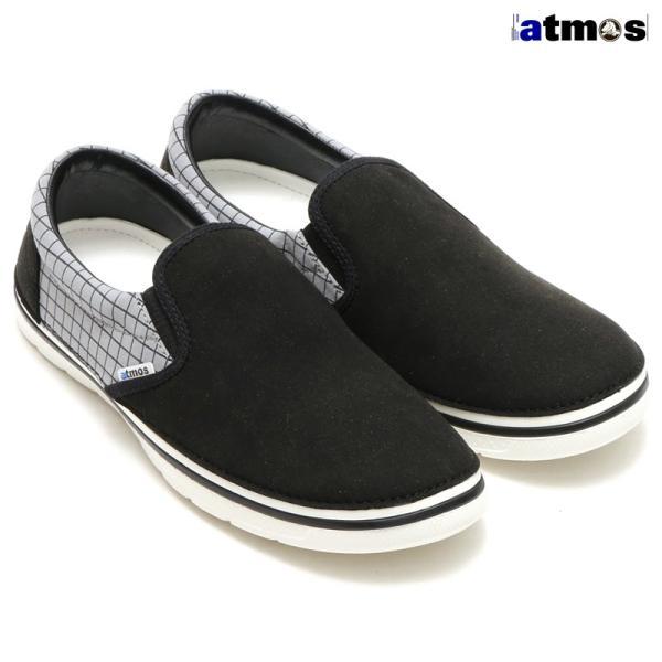 クロックス crocs スニーカー ノーリン アトモス ピンストライプ スリッポン(BLACK/WHITE)ユニセックス 15FA-S|atmos-tokyo