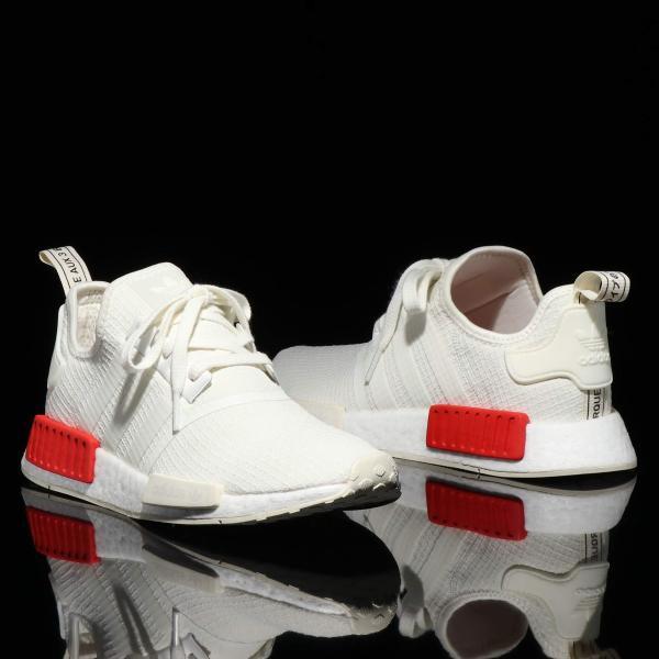 8d5cd1019 アディダス adidas Originals スニーカー エヌエムディR1 (OFF WHITE OFF WHITE RUSH RED) ...