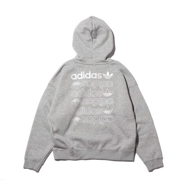 アディダス adidas パーカー エルアールジー ロゴ フーディー (MEDIUM GRAY FEATHER/WHITE) 20SS-I|atmos-tokyo|02
