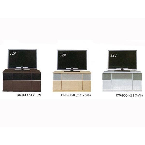 テレビ台 コーナー 収納 ハイタイプ テレビボード 完成品 白 32インチ ホワイト 角 シンプル atom-style