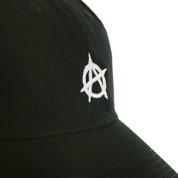 ... Atomicdope Anarchy ダッドハット ストラップバックキャップ 帽子 黒 白 Dad Hat Strapback Cap  Black White アトミック ... 027412a3fd5
