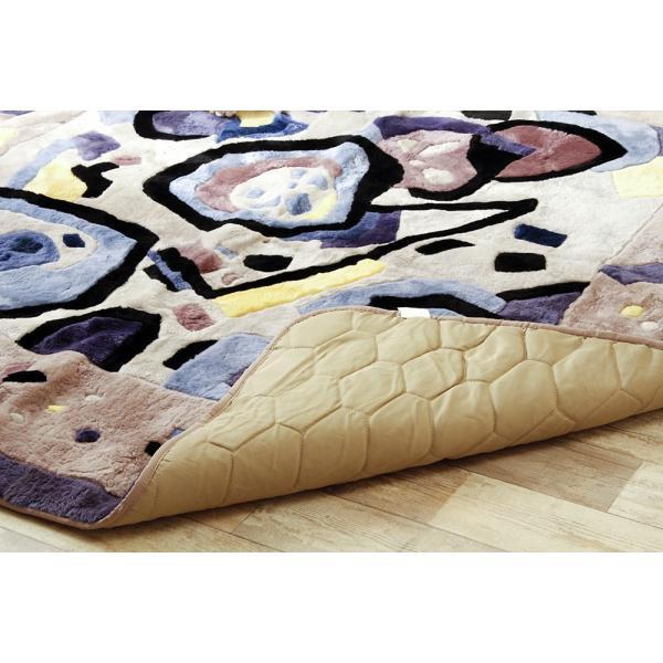 在庫処分品 ムートン ラグ カーペット 絨毯 冬用 オールシーズン 200х200cm ムラサキ|atorie-moon|03