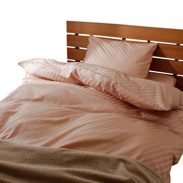 日本製 綿100% ホテル品質 サテン 掛け布団カバー ストライプ シングルサイズ|atorie-moon|03