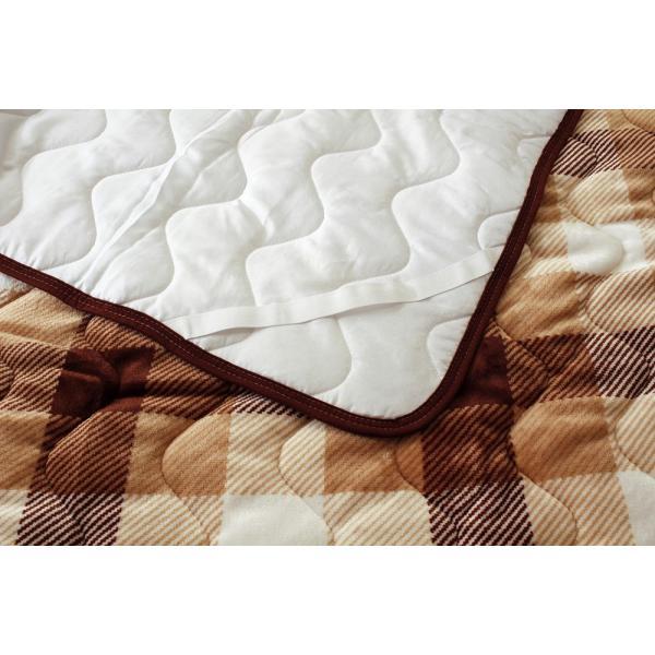 フランネル 敷きパッド 敷パッド あったか やわらか かわいい チェック チェック柄 シングルサイズ|atorie-moon|05