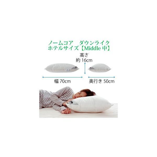 日本製 極上の快眠とリラックス 究極の枕 ノームコア コンフォレル 高機能中綿 洗える ホテルサイズ 50×70 防ダニ枕カバー付き|atorie-moon|09