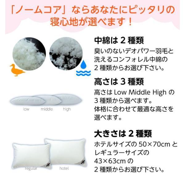 究極の枕 日本製 ノームコア デオパワー 消臭 抗菌 ホテルサイズ 50×70 専用カバー付き|atorie-moon|03