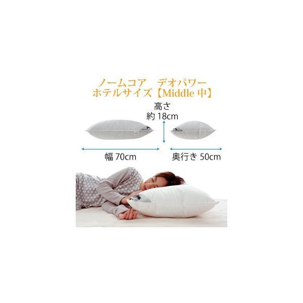 日本製 極上の快眠とリラックス 究極の枕 ノームコア デオパワー 消臭+抗菌加工羽毛  レギュラーサイズ 43×63 防ダニ枕カバー付き|atorie-moon|09