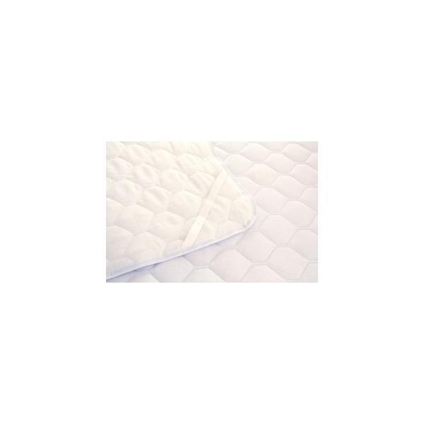 敷きパッド 敷パッド シングルサイズ ニットワッフル 涼感素材 吸水 速乾|atorie-moon|02