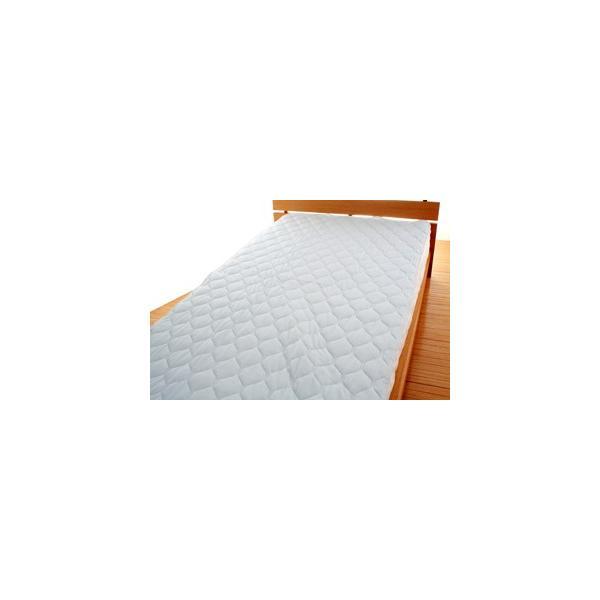 敷きパッド 敷パッド シングルサイズ ニットワッフル 涼感素材 吸水 速乾|atorie-moon|05