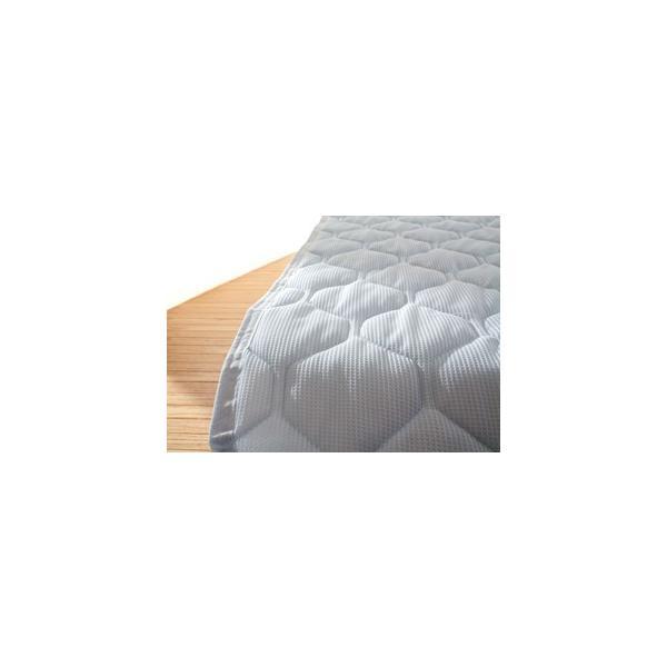 敷きパッド 敷パッド シングルサイズ ニットワッフル 涼感素材 吸水 速乾|atorie-moon|06