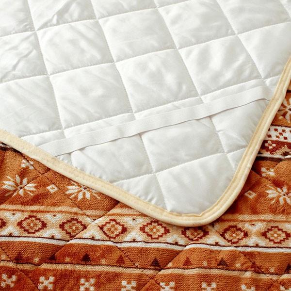 新生活応援 あったか フランネル 2点セット 毛布 ブランケット+敷きパッド セット シングルサイズ|atorie-moon|09