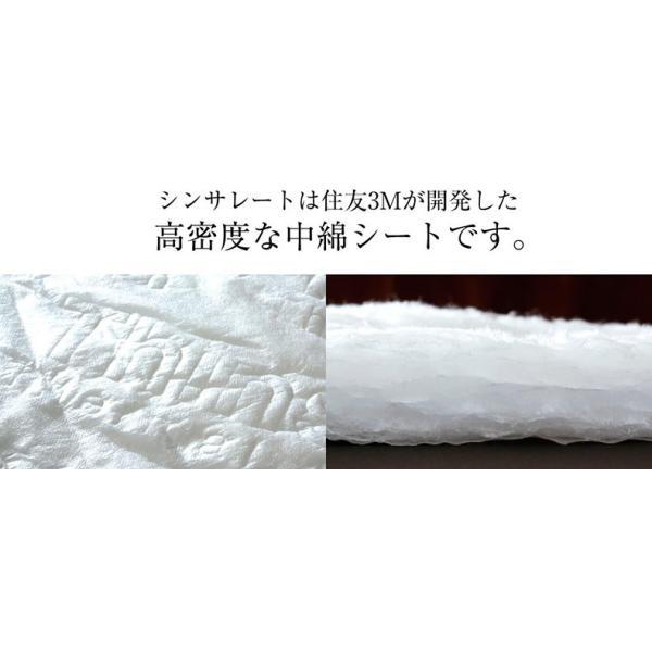 魔法の布団 日本製 洗える シンサレートウルトラ 布団セット 掛敷セット シングルサイズ|atorie-moon|04