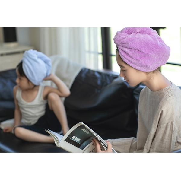タオルキャップ ヘアキャップ レディース  髪用タオル ヘアドライ タオル バス用品 ふわふわ お風呂  吸水 速乾|atoustore|09