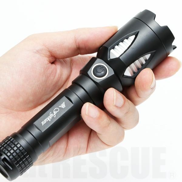 富士倉 充電式LEDハンディーライト C-010 懐中電灯 リチウムイオン電池 USB充電式 防水仕様 スマホ充電対応【納期2か月前後】|atrescue|12
