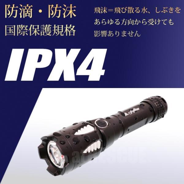 富士倉 充電式LEDハンディーライト C-010 懐中電灯 リチウムイオン電池 USB充電式 防水仕様 スマホ充電対応【納期2か月前後】|atrescue|09