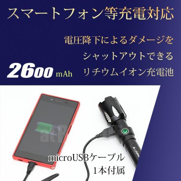 富士倉 充電式LEDハンディーライト C-010 懐中電灯 リチウムイオン電池 USB充電式 防水仕様 スマホ充電対応【納期2か月前後】|atrescue|10