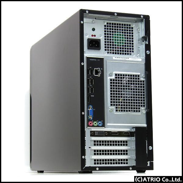 ゲーミングPC 新品SSD DELL Vostro 260 Core i7 2600 4コア8スレッド メモリ16GB GeForce GTX1050 256GB+500GB Windows10 LibreOffice 中古 デスクトップ 本体|atriopc|02