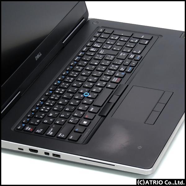 大画面17インチ メモリ32GB DELL Precision 7710 Quadro M3000M 4GB Core i7 6820HQ 4コア SSD512GB Windows10 フルHD LibreOffice 中古 ノートパソコン 本体|atriopc|02