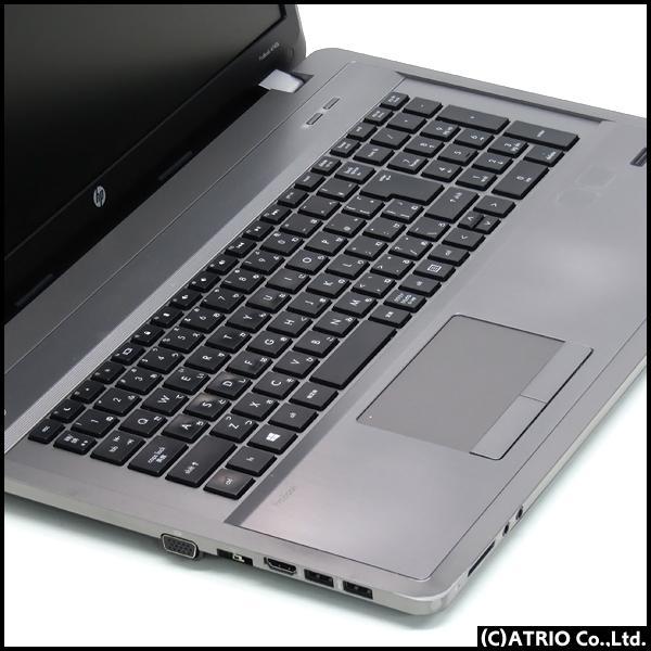 大画面17インチ 新品SSD HP ProBook 4740s Core i5 3230M 2.6GHz メモリ8GB 256GB Windows10 DVD LibreOffice 中古 ノートパソコン 本体 バッテリ切れ特価品|atriopc|02