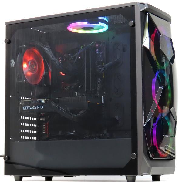 中古パソコンゲーミングPCデスクトップ自作水冷RTX3060Ryzen75800X16GB新品SSD512GBWindows10