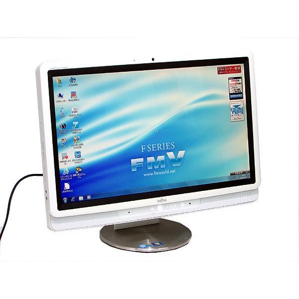 中古パソコン 一体型 デスクトップ 富士通 DESKPOWER F/E70T Core 2 Duo P8700 2.53GHz 2GB HDD500GB 20インチ Windows7 LibreOffice搭載 テレビ視聴|atriopc