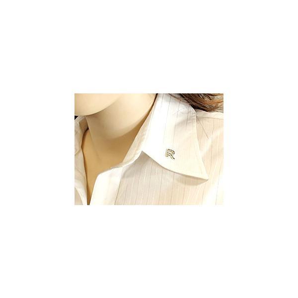 メンズ ピンブローチ ラペルピン ダイヤモンド イニシャル R ホワイトゴールドK18 タイタック タイピン タックピン ダイヤ 18金 送料無料|atrus|03