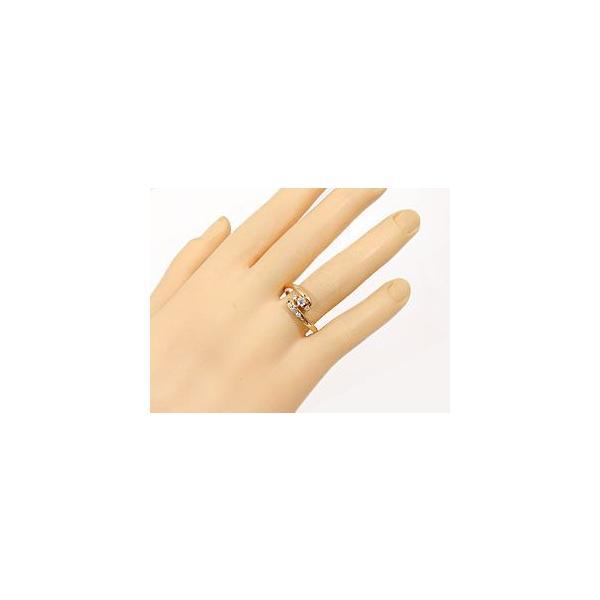 エンゲージリング 婚約指輪 ピンクゴールドk18 ダイヤモンドリング 18金 ダイヤ ストレート  プレゼント 女性 ペア 母の日