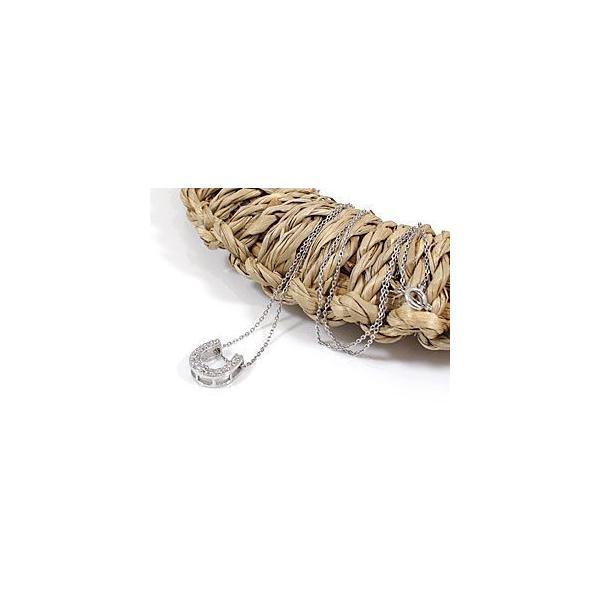 ネックレス馬蹄 ホースシュー ダイヤモンド ホワイトゴールドk18 18k チェーン 人気 18金 ダイヤ 蹄鉄 レディース バテイ 女性 送料無料|atrus|04