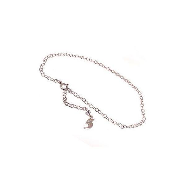 ブレスレット 鑑定書付き SIクラス ダイヤモンド ナンバー 数字 ダイヤモンド 0.10ct ホワイトゴールドK18 一粒 18金 チェーン レディース 宝石 母の日