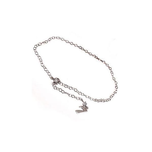 ダイヤモンド アンクレット ナンバー 数字 ダイヤモンド 0.10ct プラチナ850 PT850 一粒 ダイヤ チェーン レディース ダイヤ 宝石 送料無料