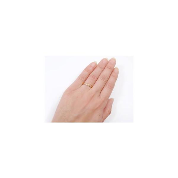 ハワイアンジュエリー ピンキーリング ハワイアンリング 指輪 ピンクゴールドK18 マイレ ハワイ ミル打ち ミル 地金リング 18金 k18pg ストレート 送料無料|atrus|03