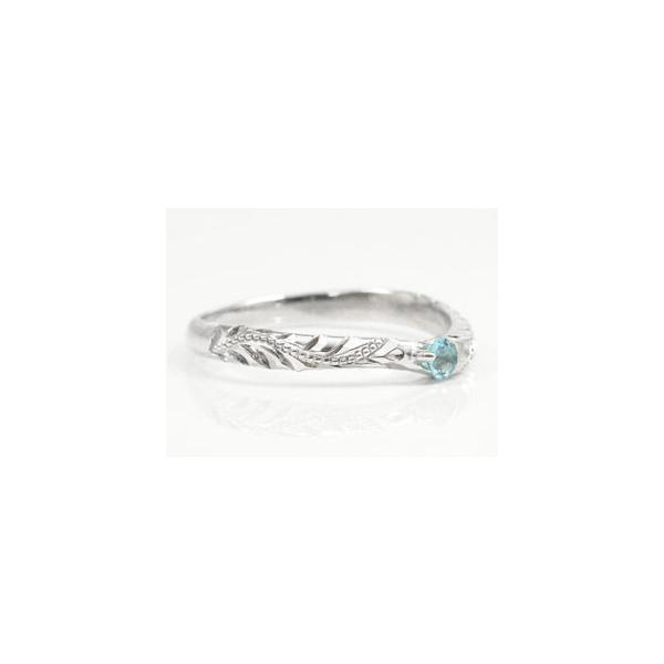 ピンキーリング ハワイアンジュエリー リング 指輪 ブルートパーズ シルバー ハワイアンリング sv925 ストレート 母の日