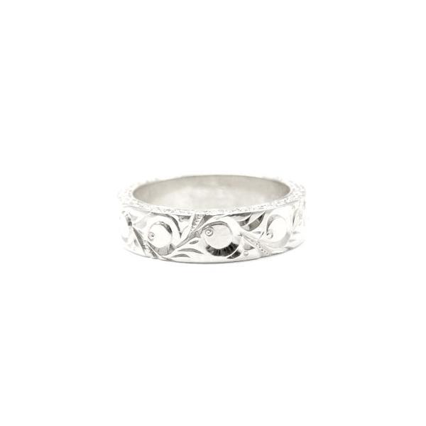 結婚指輪 ハワイアン ダイヤモンドマリッジリング ペアリング ホワイトゴールドk18 結婚式 ダイヤ 18金 ストレート カップル 母の日