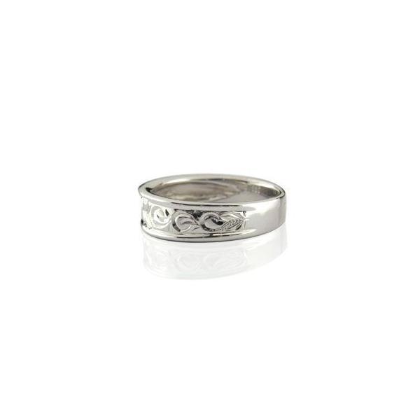 結婚指輪 婚約指輪 ハワイアンリング 婚約指輪 ピンキーリング ホワイトゴールドK18 シンプル 人気  プレゼント 女性 ペア 母の日