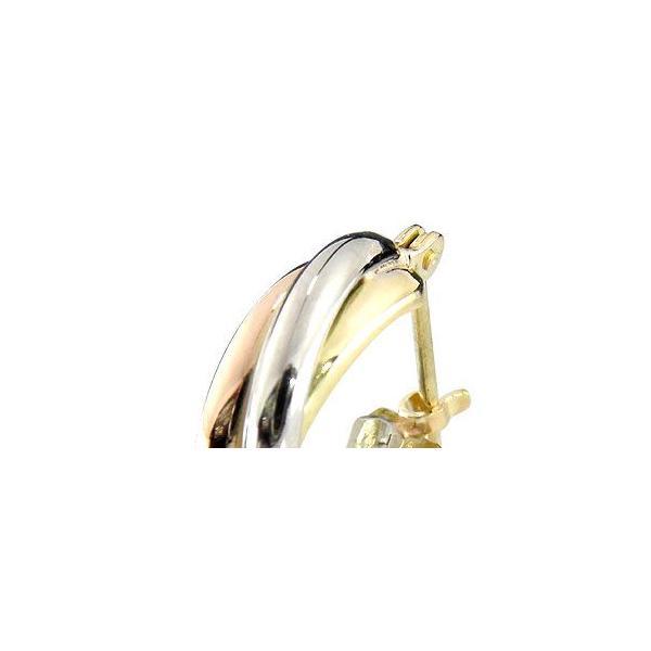 ピアス プラチナ ピアス 3連ピアス プラチナ イエローゴールド ピンクゴールド フープピアス k18 18金 レディース 宝石 18k ピアス リング 母の日
