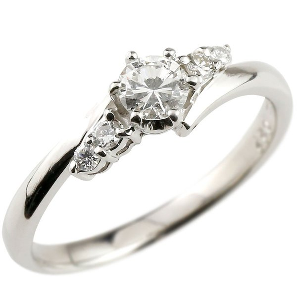 ホワイトデー お返し 婚約指輪 エンゲージリング プラチナ ダイヤモンド ラッピング付き リング 一粒 大粒 ダイヤ ストレート あすつく 母の日