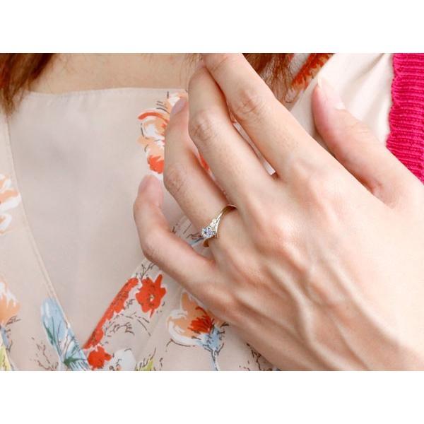 婚約指輪 エンゲージリング タンザナイト ホワイトゴールドk18リング ダイヤモンド 指輪 ピンキーリング 一粒 大粒 k18 レディース 12月誕生石 宝石  女性