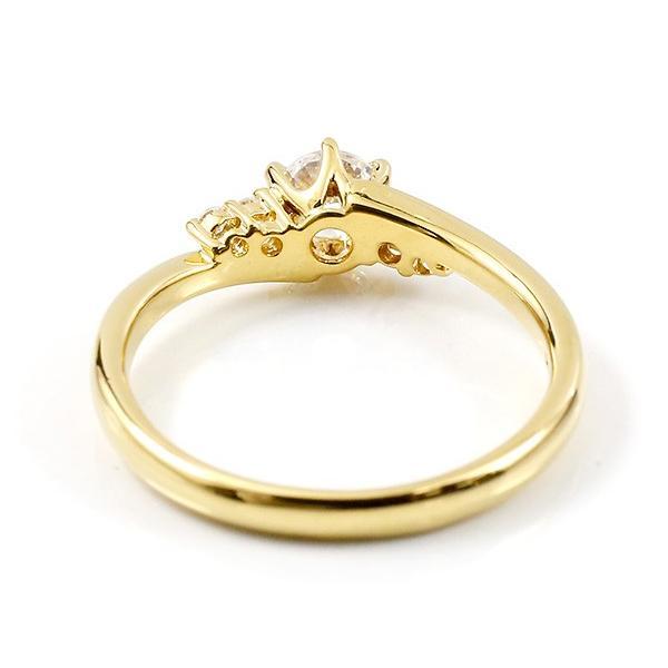 婚約指輪 エンゲージリング エンゲージリング 婚約指輪 ダイヤモンド 一粒 大粒 ダイヤ 0.37ct イエローゴールドk18 18金 ダイヤ ストレート 母の日