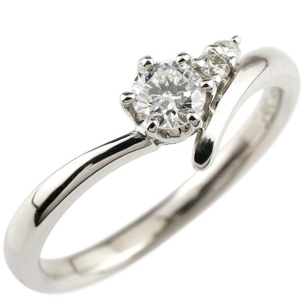 鑑定書付き 婚約指輪 エンゲージリング ダイヤモンド 一粒 大粒 ダイヤ ホワイトゴールドK18 ダイヤ 18金 ストレート  プレゼント 女性 ペア 母の日