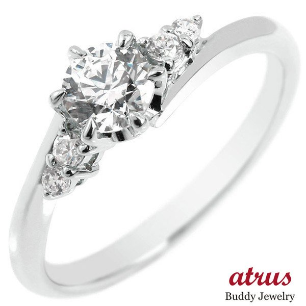 婚約指輪 安い 鑑定書付き VS1クラス プラチナ900 ダイヤモンド 婚約指輪 エンゲージリング リング 一粒 大粒 ダイヤ ストレート  女性 ペア 母の日