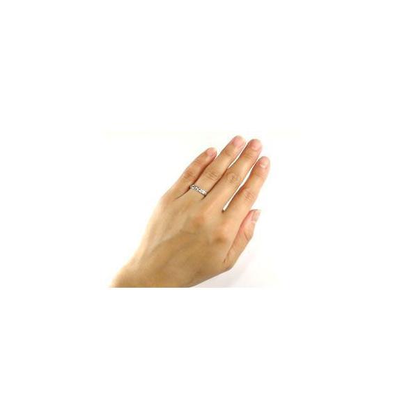 マリッジリング プラチナ 結婚指輪 ペアリング ハワイアン リング ピンクゴールドK18 ダイヤ 一粒 ハワイアンジュエリー2本セット 結婚式 18金 ストレート