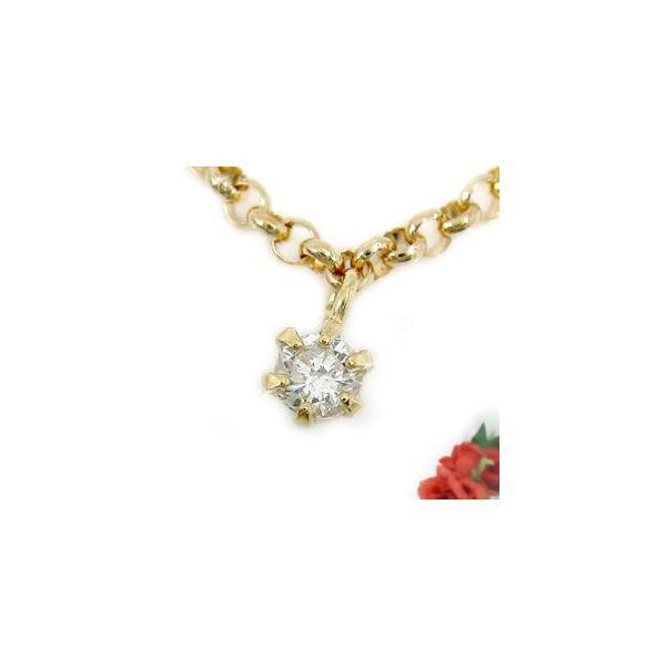 ブレスレット ペアブレスレット ダイヤモンド ダイヤ 一粒 0.08ct ソリティア ダイヤ プラチナ ゴールド 18金 チェーン カップル レディース 母の日