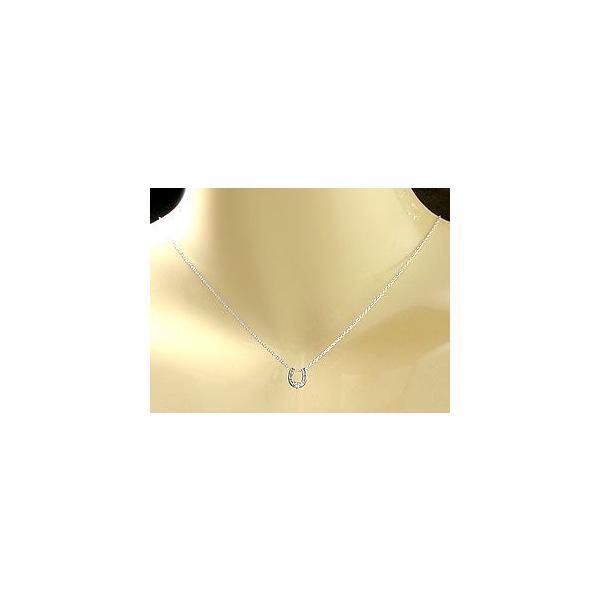 ペアネックレス 馬蹄 ホースシュー 一粒ダイヤモンド ホワイトゴールド ピンクゴールド チェーン 人気 18金 ダイヤ 蹄鉄 カップル バテイ 母の日